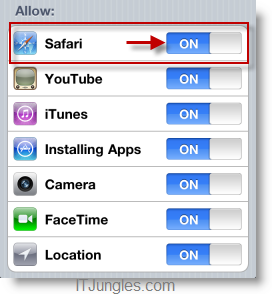 ipad-2-restriction-safari